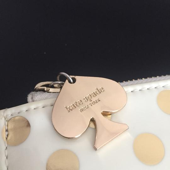 Kate Spade Wristlet in Gold Polka Dots Image 3