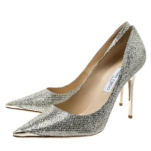 Jimmy Choo Champagne Glitter Gold Formal