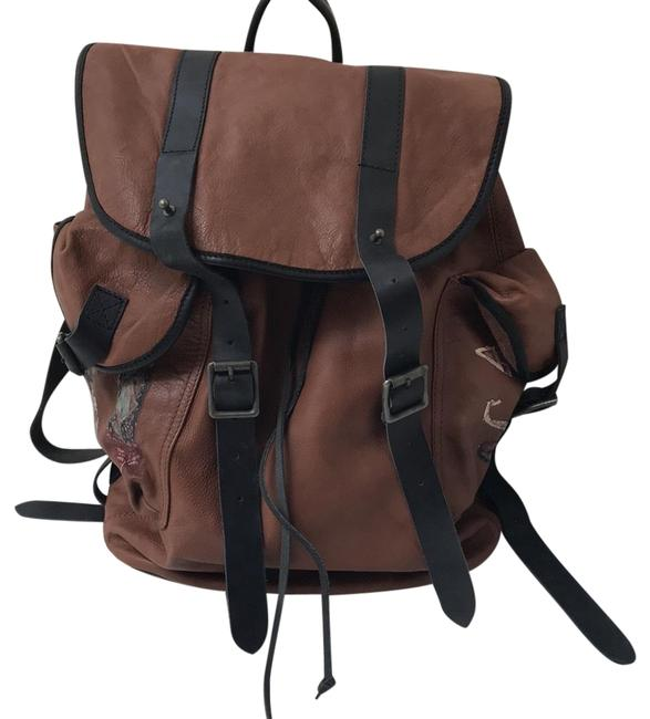 Item - Black and Brown Leather Backpack