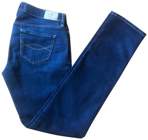 Abercrombie & Fitch No Signs Of Ware Fitted Stretchy Great Condition Skinny Jeans-Dark Rinse