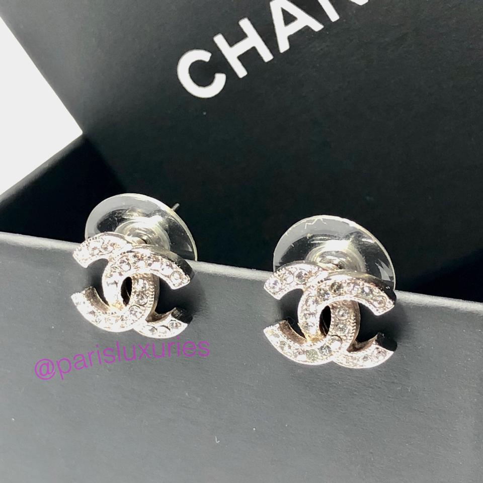 09283288a Chanel Small CC Classic Coco Swarovski with Box Studs Image 5. 123456