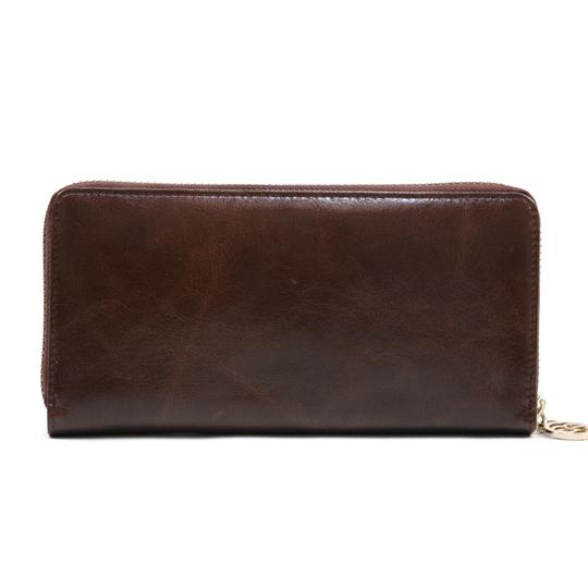 AG Women's Genuine Leather Zip-Around Wallet w/ Gold Kissed Heart Accent Image 1