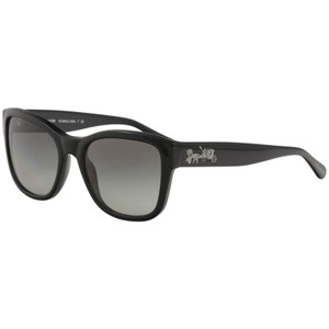 Coach Coach Women's HC8243 HC/8243 500211 Solid Black Fashion Square Sunglas