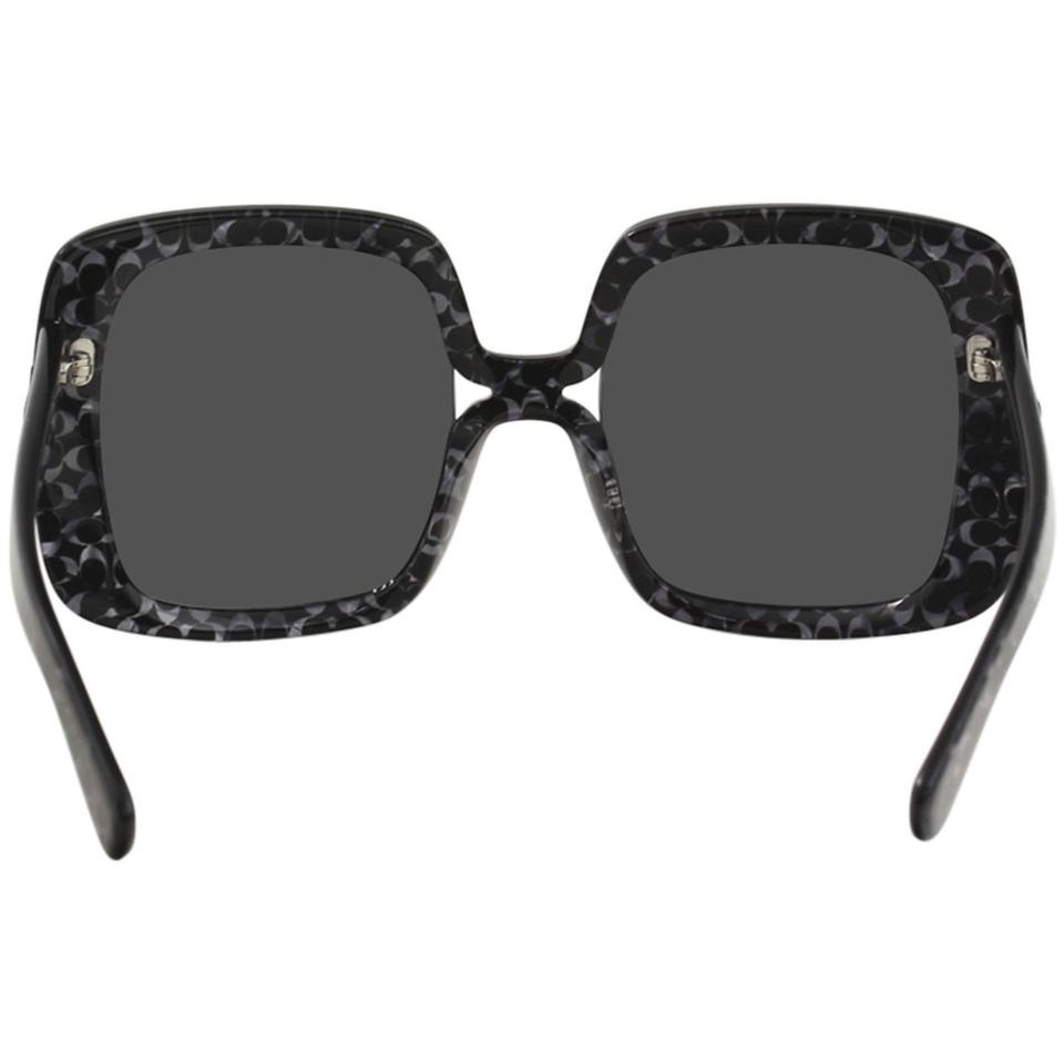 7479bae08aef ... coupon code for coach coach womens hc8245 552087 black signature c  square sunglasses.