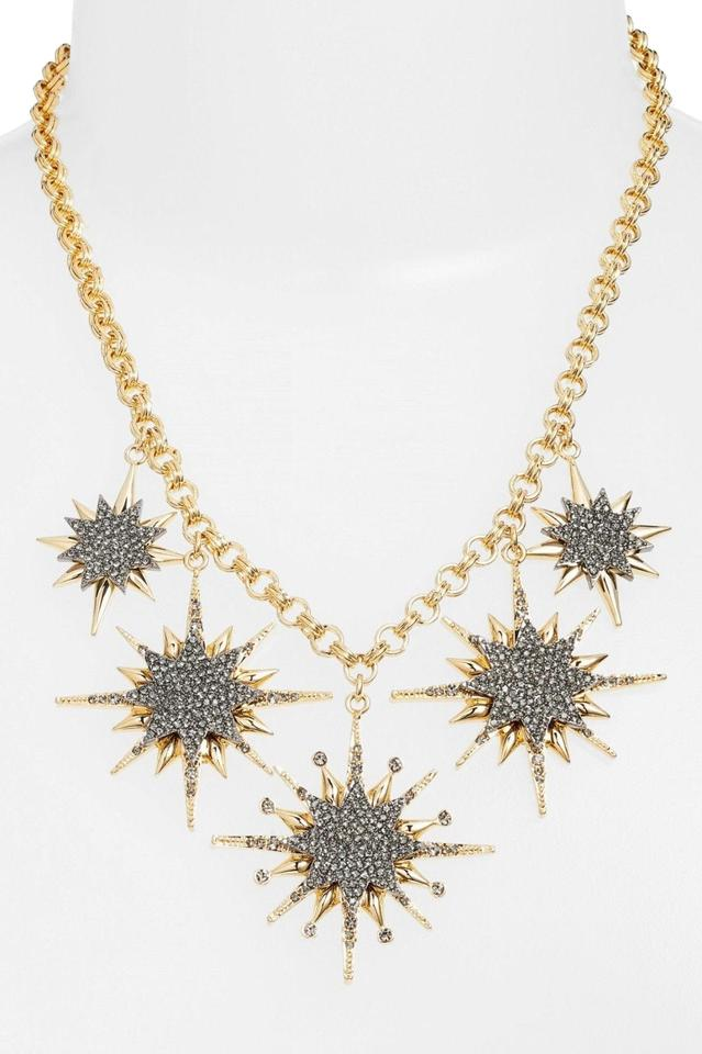 f3eb9b42bc611 Vince Camuto Gold Celestial Skies Star Pave Black Diamond Crystal Necklace  36% off retail