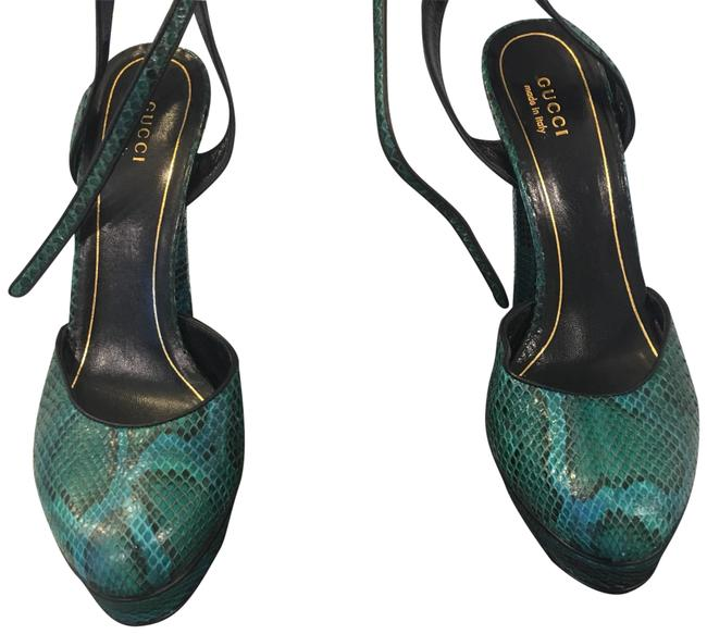 Item - Green and Black Platforms Size EU 39 (Approx. US 9) Regular (M, B)