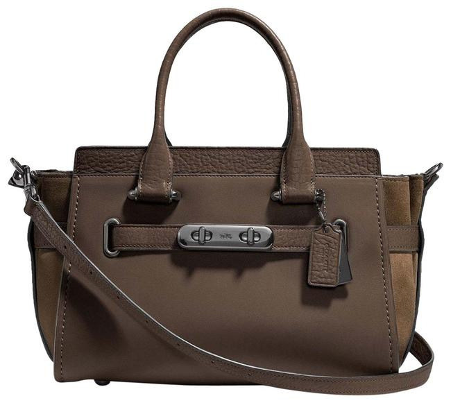 Coach Carryall Swagger 12117 27 Fatigue Leather Satchel Coach Carryall Swagger 12117 27 Fatigue Leather Satchel Image 1