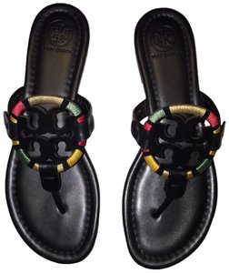 307706a0548 Tory Burch Embroidered Miller Sandals Size US 7 Regular (M
