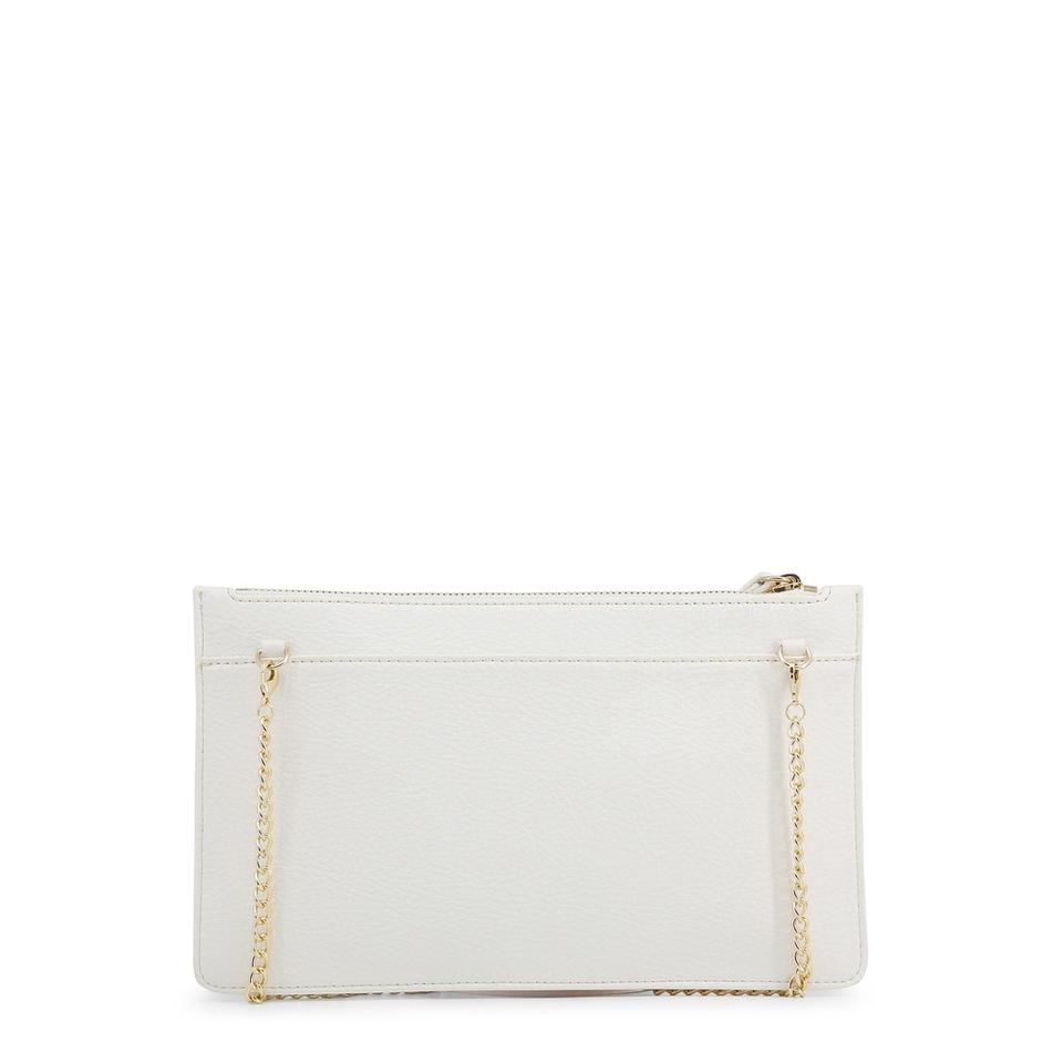 Love White Moschino Synthetic Clutch Leather qWwAqTr7