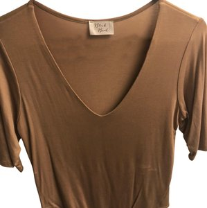 Black Bead T Shirt Taupe
