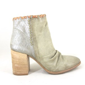 A.S. 98 Leather Ruched Taupe Boots