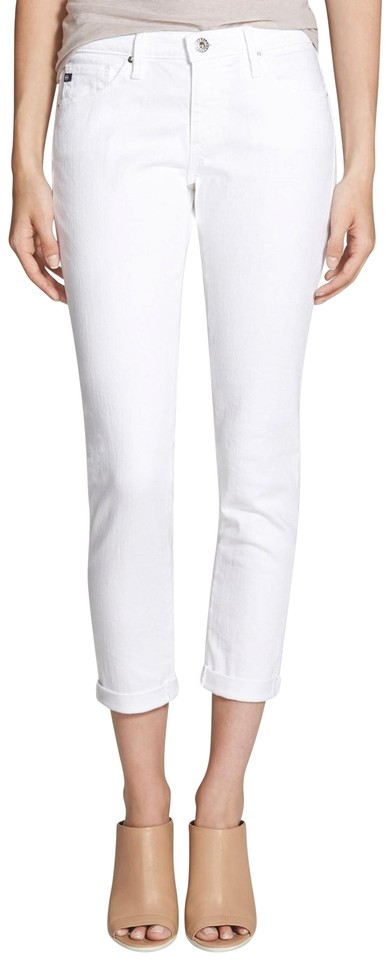 Stretch Cuffed Light Goldschmied Jeans White Roll Wash Adriano Stilt Up Pants Skinny AG q1B46xw4