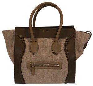 Céline Luggage Tote Chic Satchel in brown and black