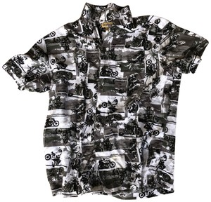 Panama Jack Button Down Shirt Black and White