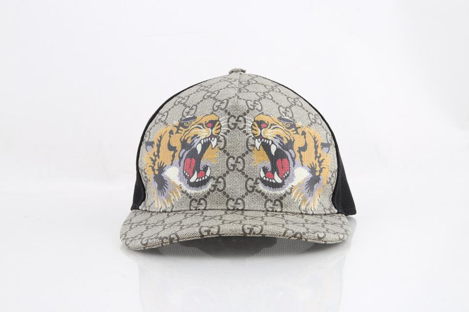 5925152b8b2 Gucci Tiger Print Gg Supreme Hat Baseball Rap Men s Jewelry Accessory Image  0 ...