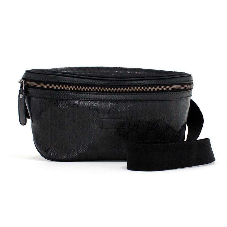 a81bb17fd19a Gucci Black Monogram GG Supreme Belt Bag Image 0 ...