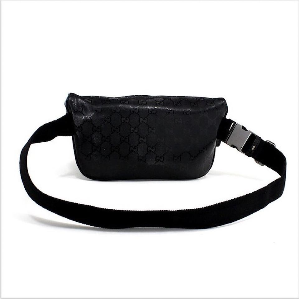 285e23673f7d Gucci Black Monogram GG Supreme Belt Bag Image 6. 1234567