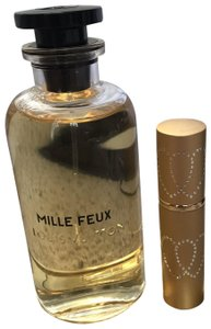 Louis Vuitton ' MILLE FEUX ' in Gold Refillable Glass Travel Spray Atomizer 10ml