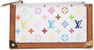 Louis Vuitton Louis Vuitton Multicolor Key Pouch White