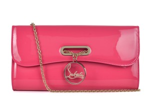 Christian Louboutin Italian Patent Leather Chain Formal Clutch