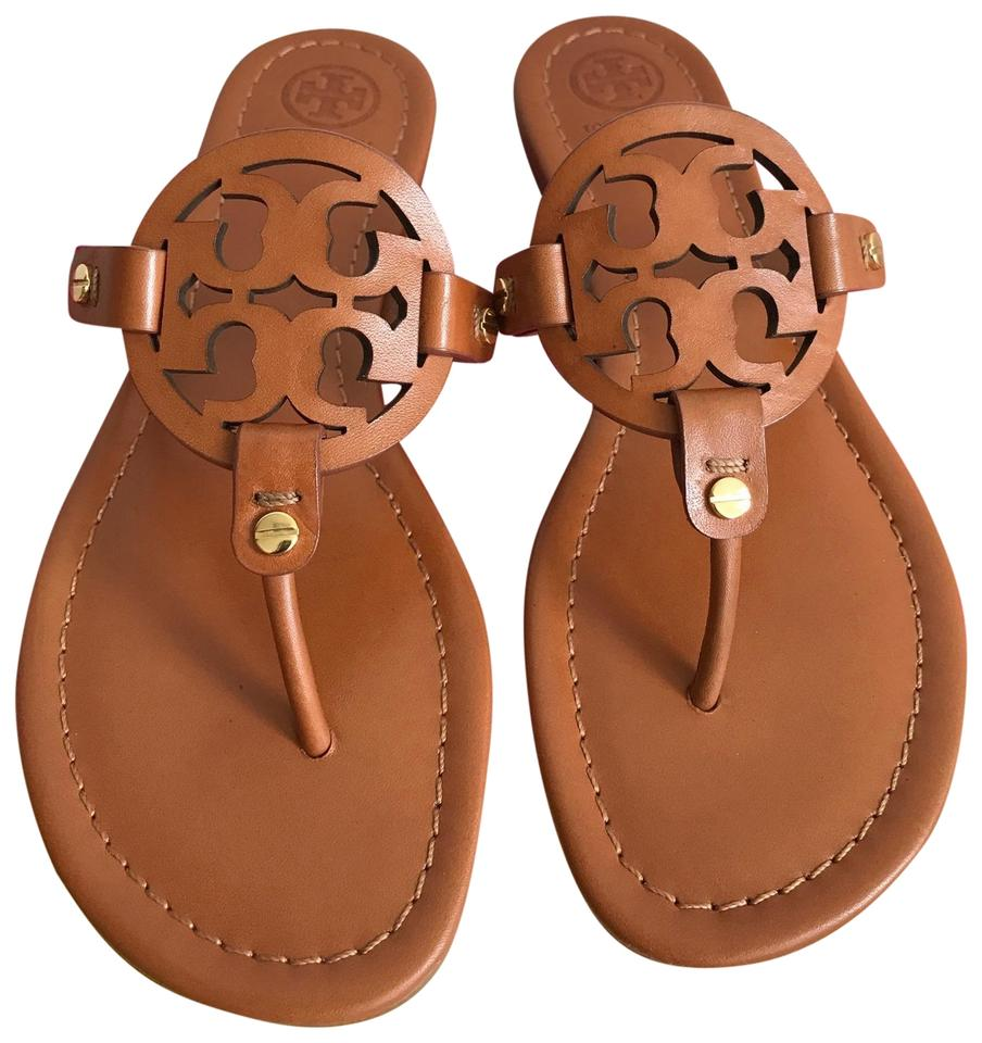99597b6d03eb01 Tory Burch Brown Miller Veg Leather Sandals Size US 10.5 Regular (M ...