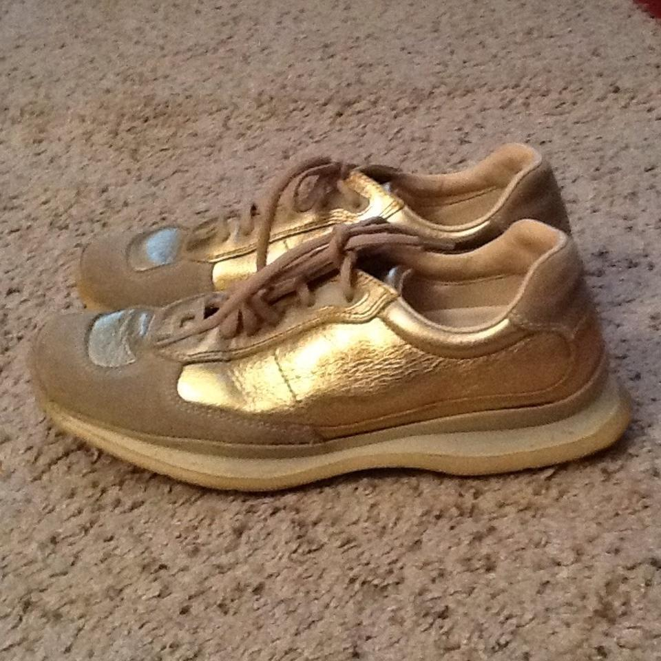 Sneakers Gold Prada Sneakers Leather All Metallic nRrqWgr