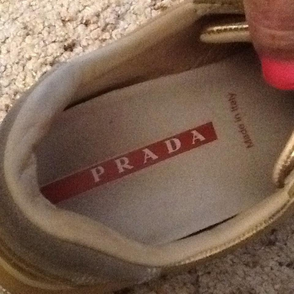 Prada Metallic Leather Sneakers Sneakers All Gold qZqxBU