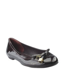 Louis Vuitton Patent Leather Burgundy Flats