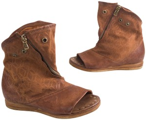 A.S. 98 Peep Slouch Cognac Brown Boots