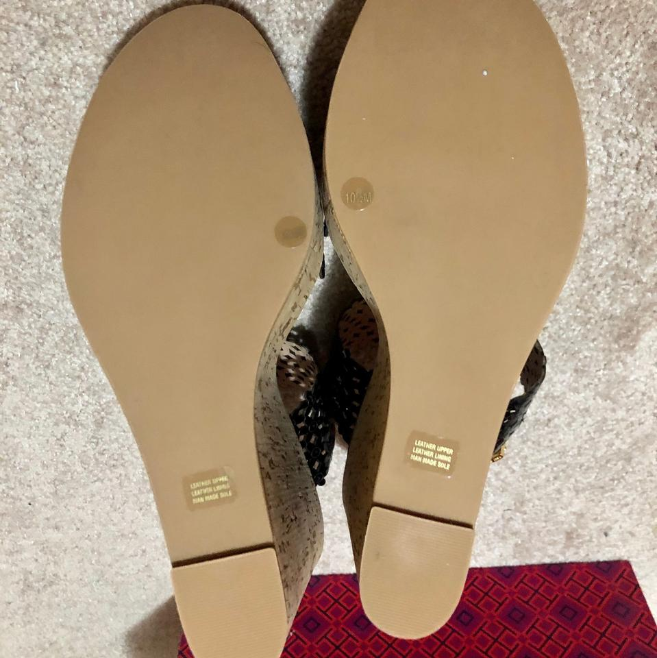 2ec6404d372 Tory Burch Black Daisy Perforated 125mm Platforms Sandals Cork ...