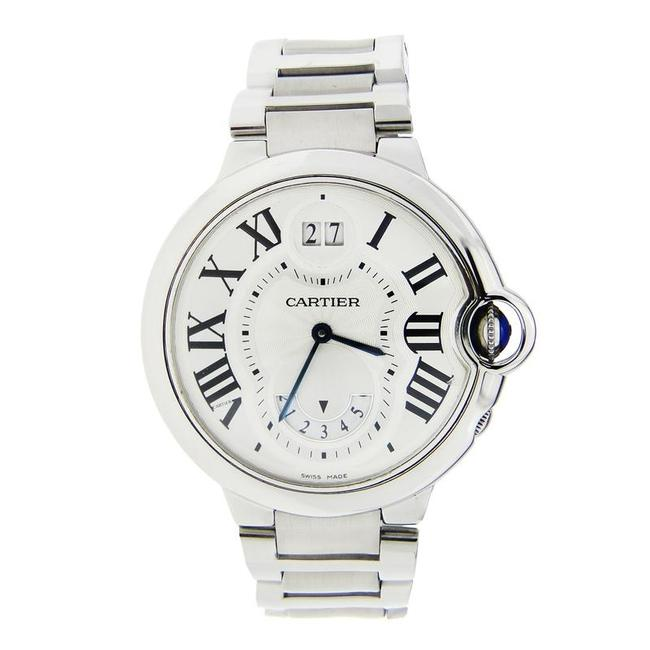Item - White Ballon Bleu Stainless Steel with Annual Calander & Date Wheel Watch