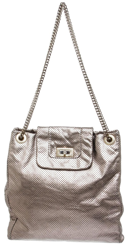 b45105310d34 Chanel 2.55 Reissue Bag Pewter Perforated Drill 484963 Dark Silver ...