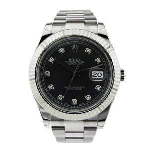 Rolex Rolex Datejust II Stainless Steel with Black Diamond Dial 41mm