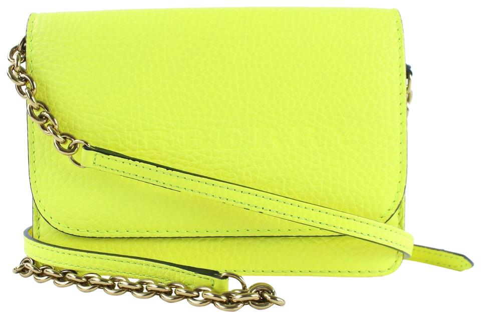 d1104b2a0c04 Burberry Neon Embossed Hampshire Wallet On Chain 1burz0817 Yellow ...