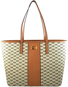 ac24a87277ea Added to Shopping Bag. Michael Kors Tote in Brown Natural/Acorn. Michael  Kors Emry Center Stripe Large ...