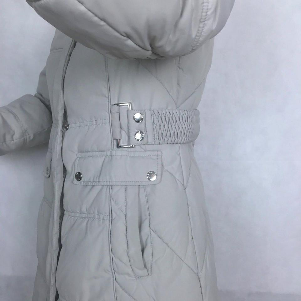 Laundry By Design Gray Jacket Puffer Quilted Winter Snow Women Puffy