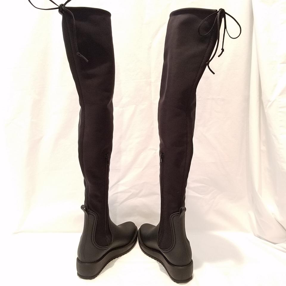 59052595ae4a Jeffrey Campbell Black Monsoon-2 Water Resistant Boots Booties Size ...