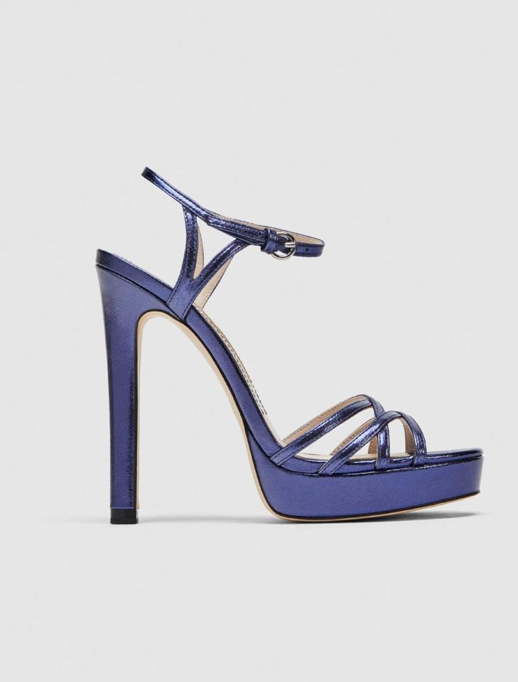 ae91846fac Zara Purple High Heel Straps Sandals Size US 8 Regular (M, B) - Tradesy