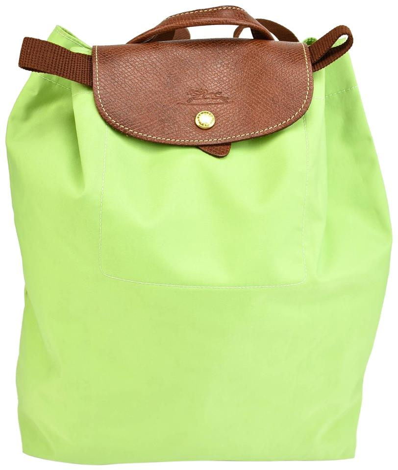 d3bd5e8d82c08 Longchamp Le Pliage - Spring Green Nylon   Leather (N) Shoulder Bag ...