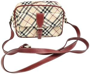 Burberry London Nova Leather Check Cross Body Bag