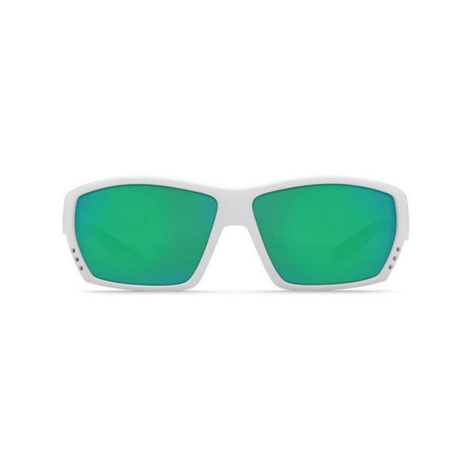 d656a1a413 Costa Del Mar Tuna Alley TA25OGMP White Frame Green Polarized Large New  Sunglasses Image 0 ...