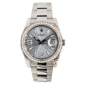 Rolex Rolex Datejust Wave Dial Stainless Steel with Diamond Bezel 36mm