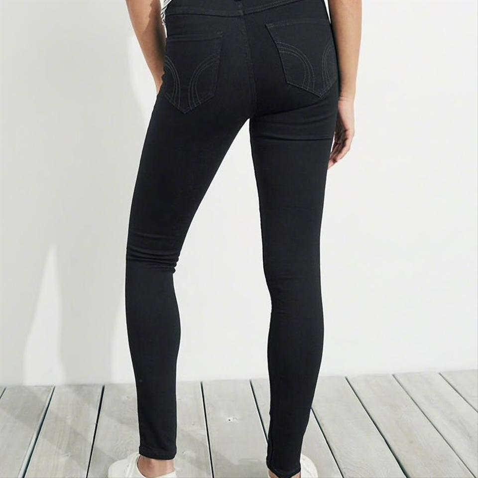 f6c92f5b36d96 Hollister Black Dark Rinse Classic Stretch High-rise Super Skinny ...