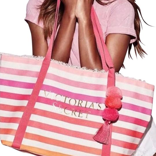 Preload https://img-static.tradesy.com/item/23879914/victoria-s-secret-tote-pink-monotone-stripes-durable-cloth-silk-interior-lining-beach-bag-0-1-540-540.jpg