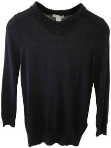 H&M Designer Beaded Top Black