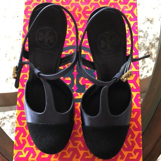 Tory Burch Navy Platforms