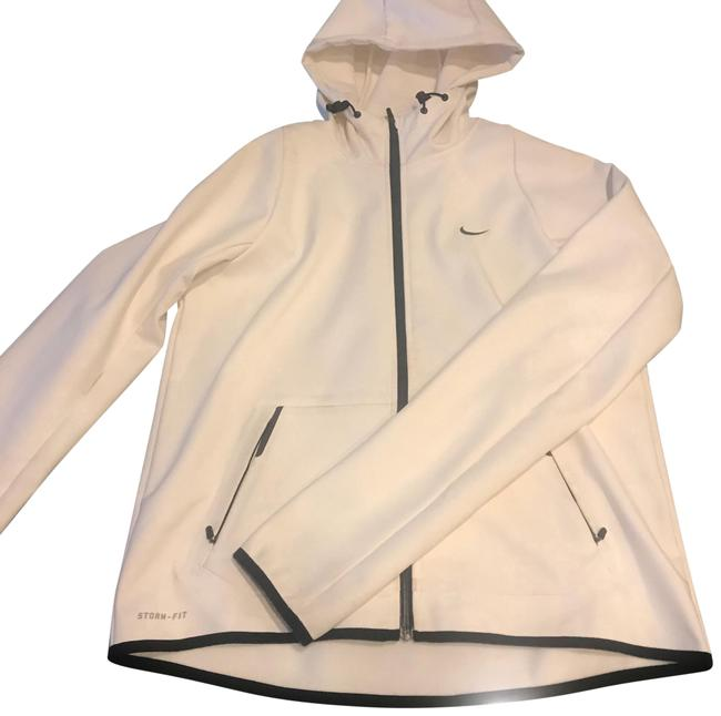 Preload https://img-static.tradesy.com/item/23880027/nike-creambeige-with-black-leather-trims-and-zipper-storm-fit-activewear-size-8-m-0-1-650-650.jpg