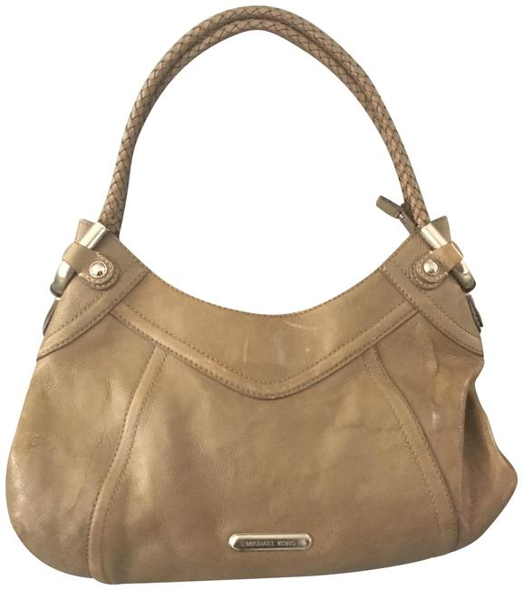 Item - W W/Silver Hardware Taupe/Tan Leather Shoulder Bag