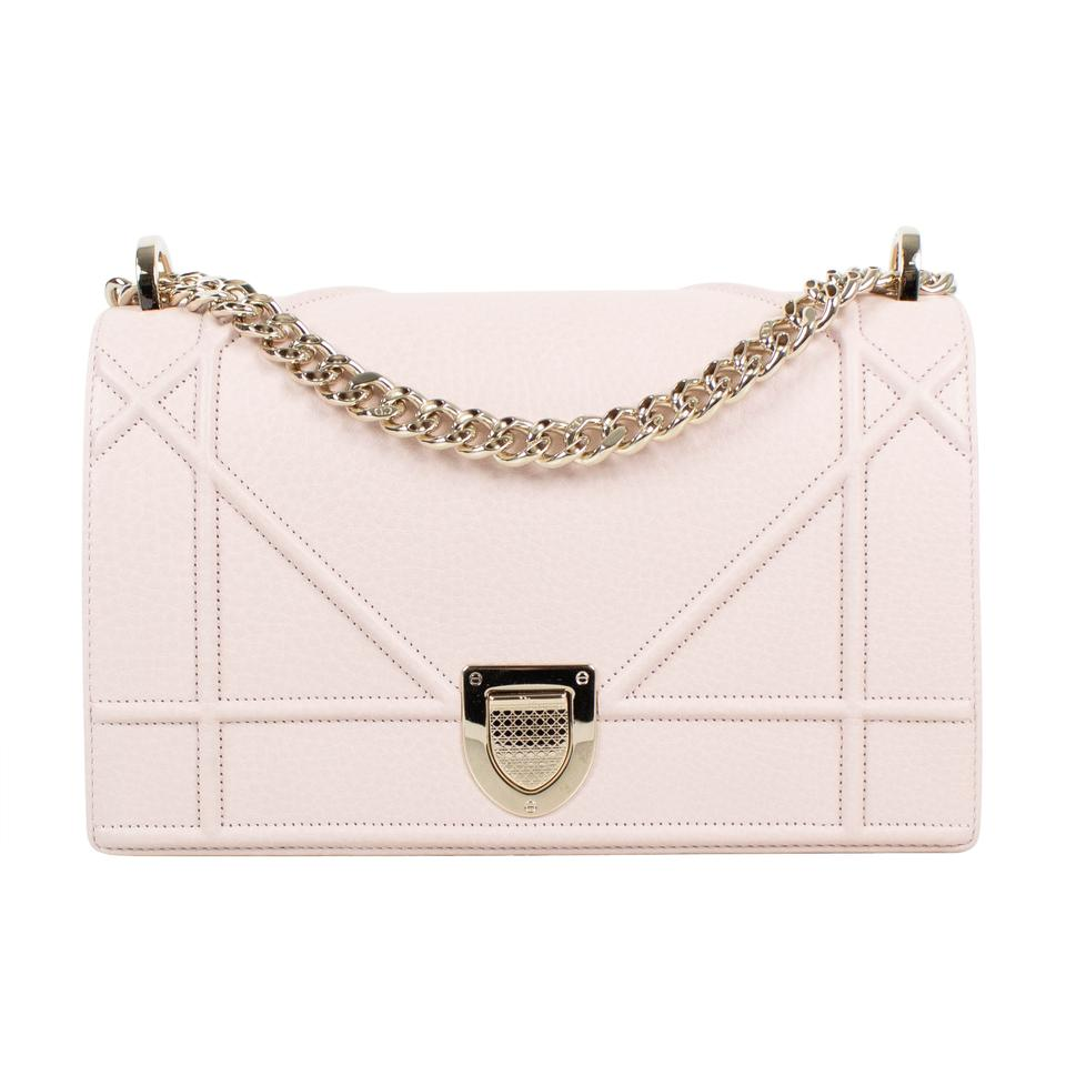 f6172167e591 Dior Diorama Baby with Attachable Strap Pink Leather Shoulder Bag ...