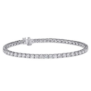 "Avital & Co Jewelry 2.75 Carat Round Cut Diamond Tennis Bracelet 7"" 14K White Gold"